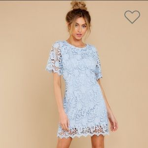 Blue Lace Dress by Red Dress Boutique